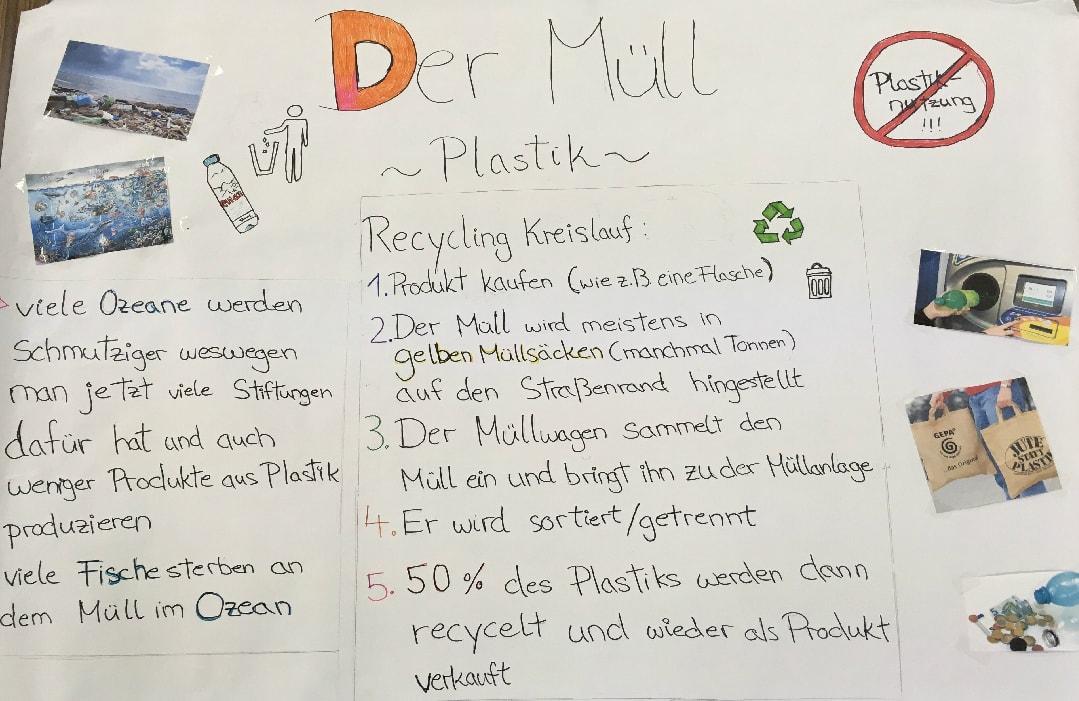 DeutscheSchuleTokyoYokohamaSchulprojektMüllverwertungPlakat